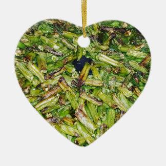 Ornement Cœur En Céramique Haricots verts…