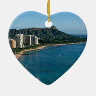 Ornement Cœur En Céramique Honolulu Hawaï