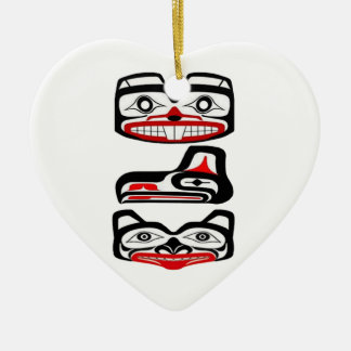 Ornement Cœur En Céramique Identité tribale