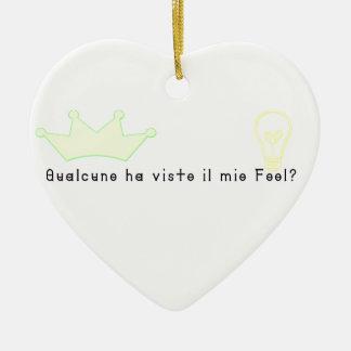 Ornement Cœur En Céramique Italien-Imbécile