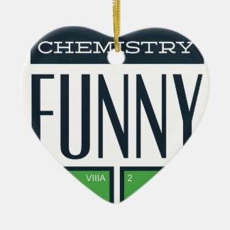 Ornement Cœur En Céramique J'ai rendu une chimie drôle ici