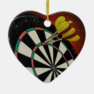 Ornement Cœur En Céramique J'aime des dards