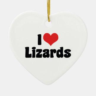 Ornement Cœur En Céramique J'aime des lézards de coeur - amant de reptile
