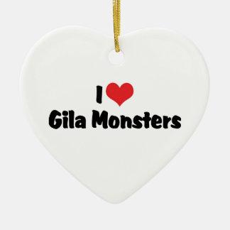 Ornement Cœur En Céramique J'aime des monstres de Gila de coeur - amant de