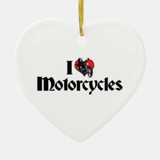 Ornement Cœur En Céramique J'aime des motos de coeur