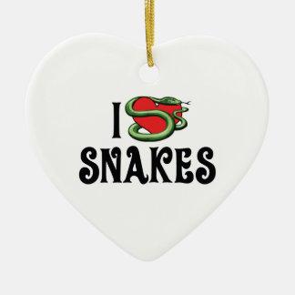 Ornement Cœur En Céramique J'aime des serpents de coeur