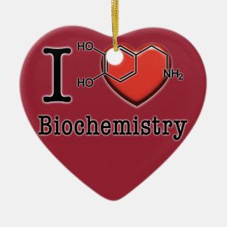 Ornement Cœur En Céramique J'aime la biochimie