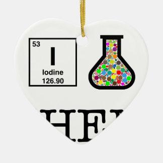 Ornement Cœur En Céramique J'aime la chimie