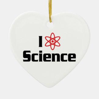 Ornement Cœur En Céramique J'aime la Science de coeur - scientifique de