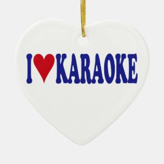 Ornement Cœur En Céramique J'aime le karaoke