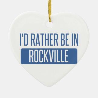 Ornement Cœur En Céramique Je serais plutôt à Rockville