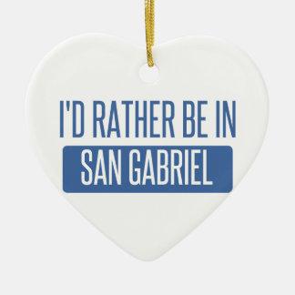 Ornement Cœur En Céramique Je serais plutôt dans San Gabriel