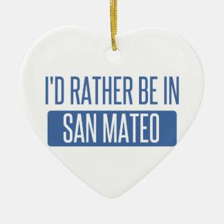 Ornement Cœur En Céramique Je serais plutôt dans San Mateo