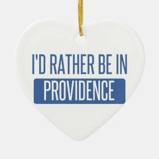 Ornement Cœur En Céramique Je serais plutôt en Providence