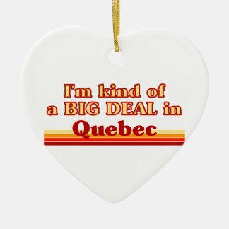 Ornement Cœur En Céramique Je suis un peu une affaire au Québec