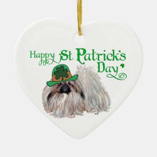 Ornement Cœur En Céramique Jour de la Saint Patrick heureux