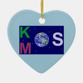 Ornement Cœur En Céramique Kosmos étoilé