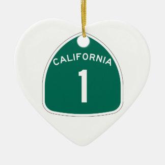 Ornement Cœur En Céramique La Californie 1