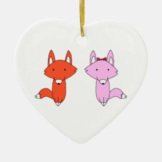 Ornement Cœur En Céramique La chemise de Fox