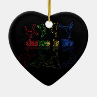 Ornement Cœur En Céramique La danse est la vie