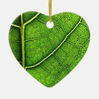 Ornement Cœur En Céramique La feuille Dble-a dégrossi coeur Ornanent