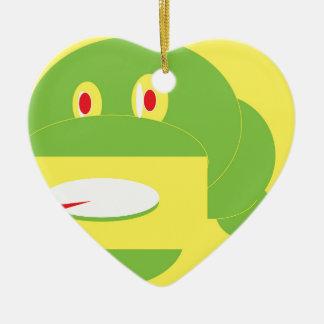 Ornement Cœur En Céramique La forme a fait le serpent