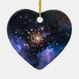 Ornement Cœur En Céramique La NASA superbe de groupe d'étoile de NGC 3603