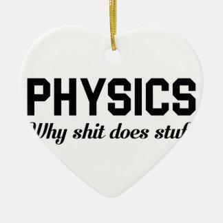 Ornement Cœur En Céramique La physique bourre