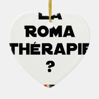 Ornement Cœur En Céramique La Roma Thérapie - Jeux de Mots - Francois Ville