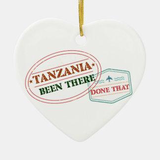 Ornement Cœur En Céramique La Tanzanie là fait cela