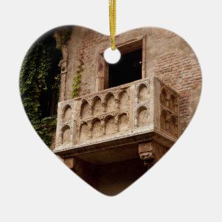 Ornement Cœur En Céramique Le balcon de Juliet