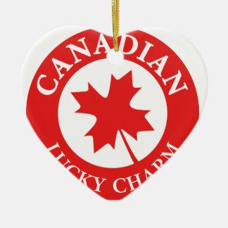 Ornement Cœur En Céramique Le Canada Lucky Charm Luck ED. Séries
