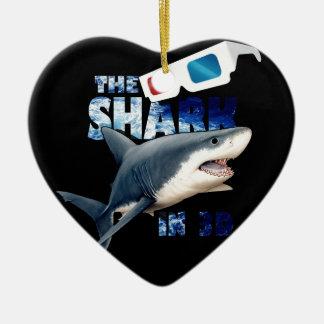 Ornement Cœur En Céramique Le film de requin