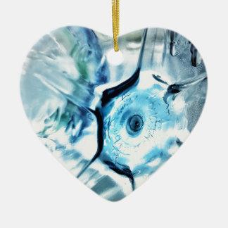 Ornement Cœur En Céramique Le fond de la bouteille Dble-a dégrossi coeur