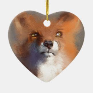 Ornement Cœur En Céramique Le Fox