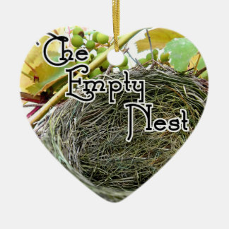Ornement Cœur En Céramique Le nid vide