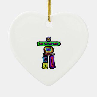 Ornement Cœur En Céramique Le trouveur de chemin