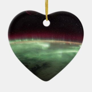 Ornement Cœur En Céramique Les aurores sur terre