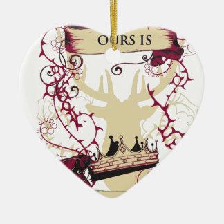 Ornement Cœur En Céramique les cerfs communs couronnent le notre sont la