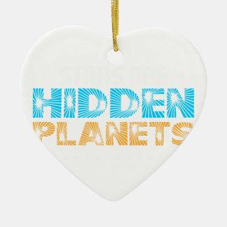 Ornement Cœur En Céramique Les étoiles sont les planètes cachées