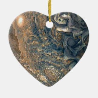 Ornement Cœur En Céramique Les nuages de Jupiter