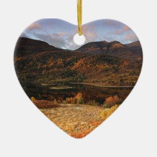 Ornement Cœur En Céramique Loch Leven, Glencoe, Ecosse
