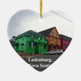 Ornement Cœur En Céramique Ludenburg la Nouvelle-Écosse