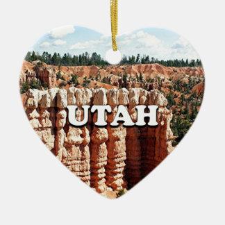 Ornement Cœur En Céramique L'Utah : Parc national de canyon de Bryce
