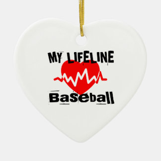Ornement Cœur En Céramique Ma ligne de vie base-ball folâtre des conceptions