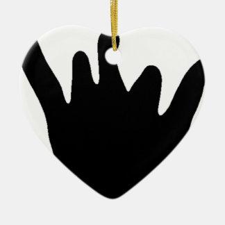 Ornement Cœur En Céramique Main de Jayden (noir)