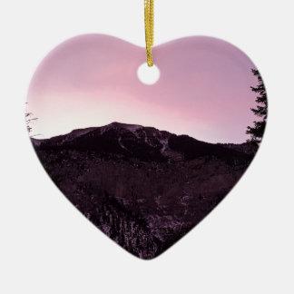Ornement Cœur En Céramique Majesté de montagnes pourpres