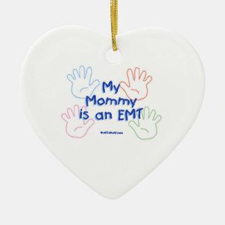Ornement Cœur En Céramique Maman EMT