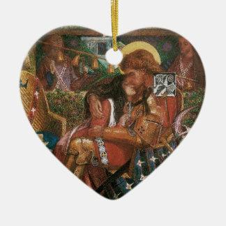 Ornement Cœur En Céramique Mariage de St George, princesse Sabra par Rossetti