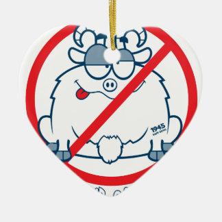 Ornement Cœur En Céramique met bas la chemise de chèvre de Chicago